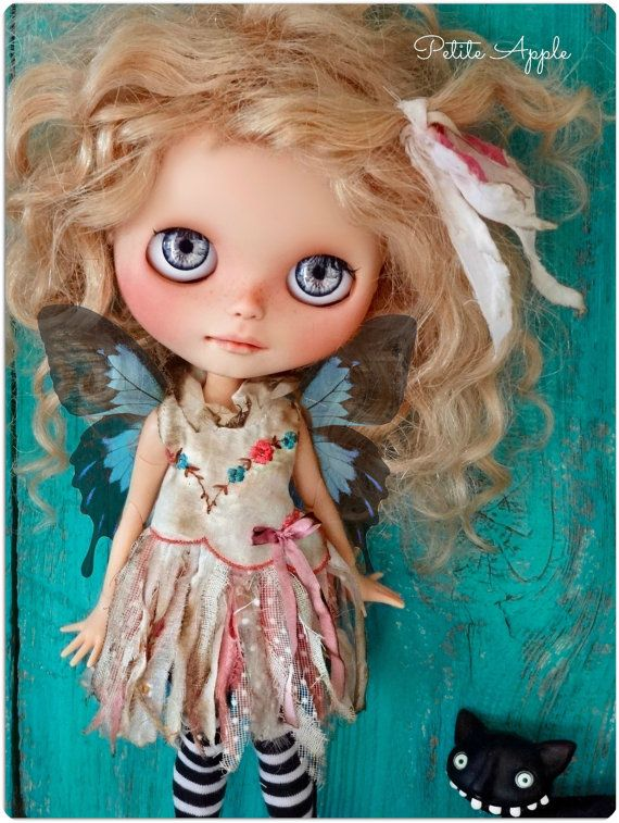 Blythe doll fairy outfit Spring magic vintage by PetiteAppleShop