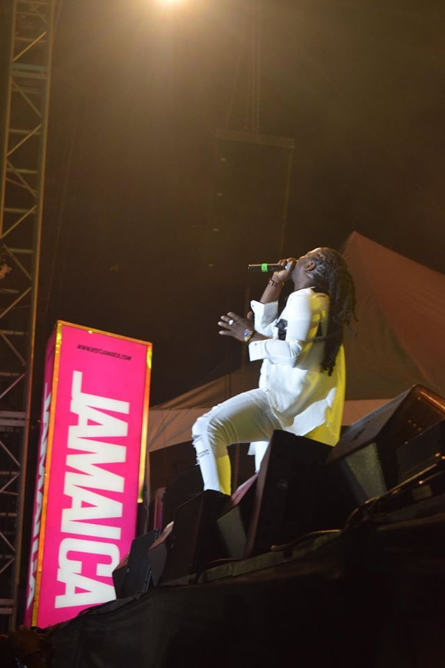 I-Octane performing on Night 2 of Rebel Salute 2016. — at Grizzly's Plantation Cove, St. Ann, Jamaica .