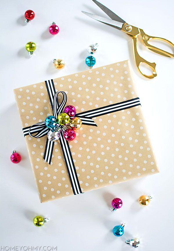 Easy + Adorable Gift Wrap Idea | Homey Oh My!
