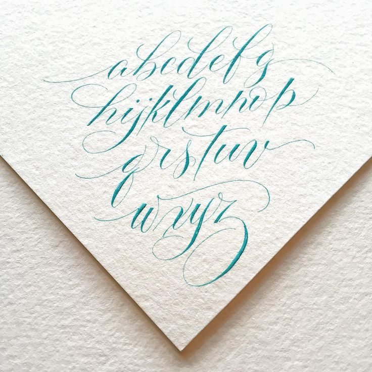 Unique modern calligraphy alphabet ideas on pinterest