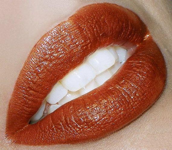 Burnt Orange Color Rich Lipstick-Spiced by MyBeautyAddiction