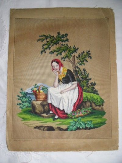 Antique Hand Painted Berlin Woolwork Pattern /Chart (05/05/2012)