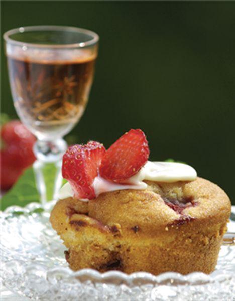 Opskrift på Saftige jordbærmuffins fra - Hjemmet