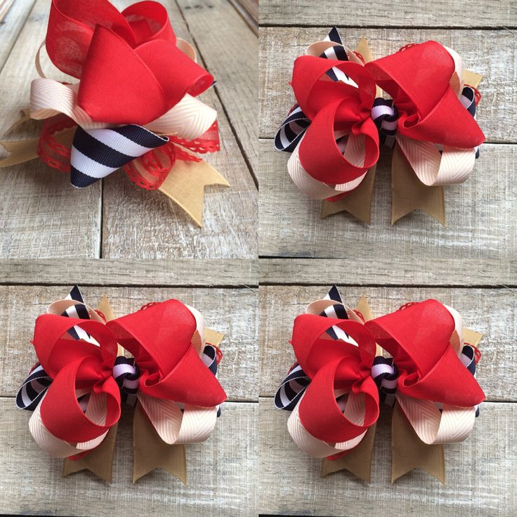 Stacked hair bows for sale text Jamie Isaacs 937-546-4009