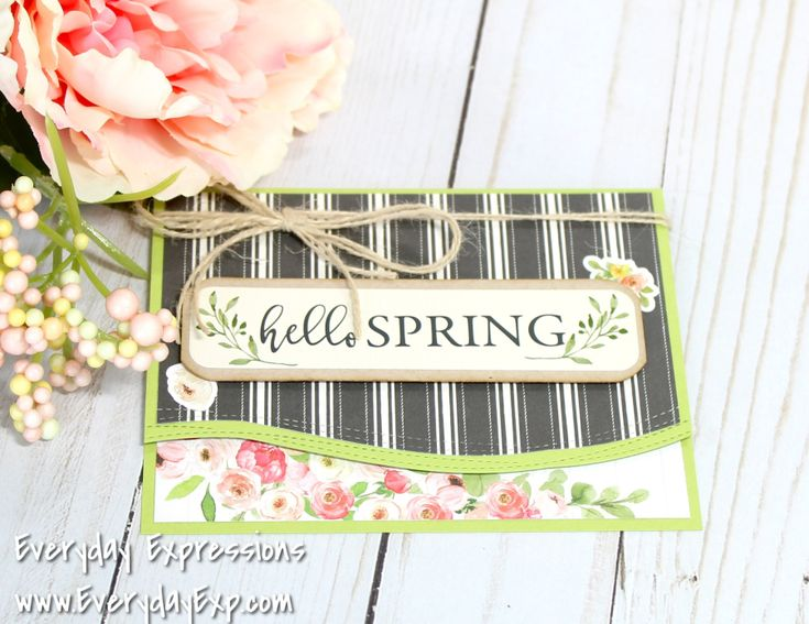 Hi Everyone! I'm back for the second day with a card from Simon Says Stamp March Card Kit. Again, I have to say that this month's kit couldn't make it any easier to create beautiful cards! The Cart…