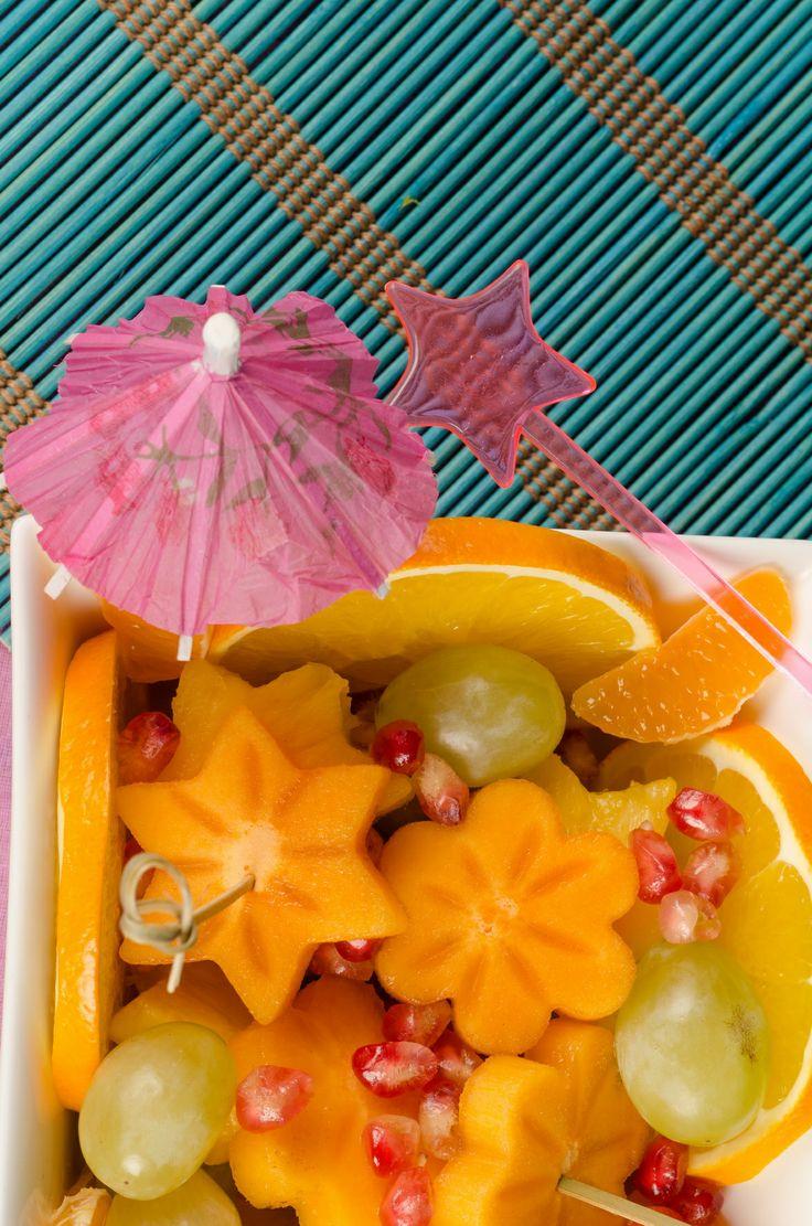 Suculento cocktail de frutas, fresquito para el verano.