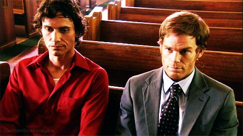 Dexter Morgan and his brother Brian Moser (The Ice Truck Killer)