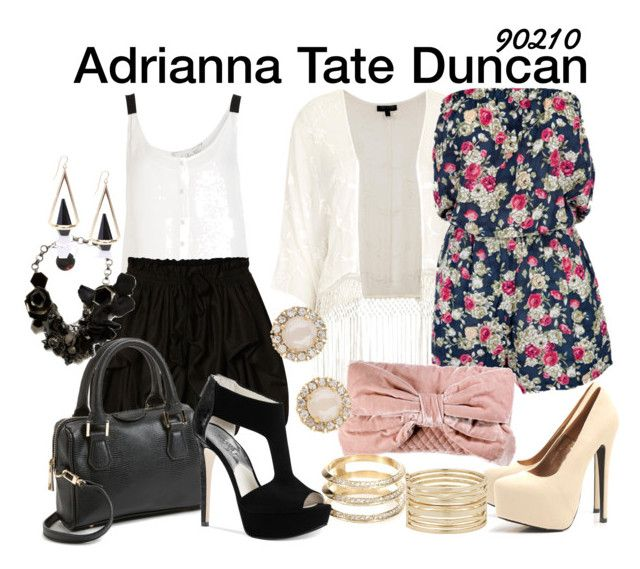 Adrianna Tate Duncan 90210 by sparkle1277 on Polyvore featuring polyvore, fashion, style, Topshop, A.L.C., AllSaints, Michael Kors, AX Paris, Juicy Couture, Elie Saab, Kate Spade, Nine West, Ileana Makri and clothing