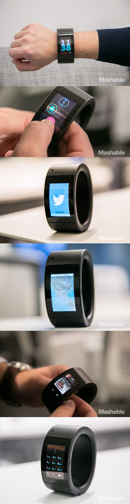 Here is a closer look at Will.i.am's wearable, Puls.#gadget, #watch