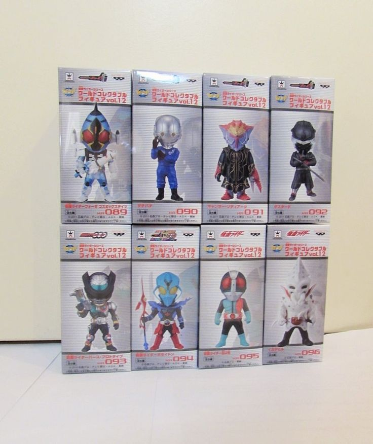 Rider WCF World Collectable Figure VOL.12 Banpresto Japan Completed 8 lot