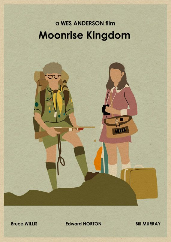 MOONRISE KINGDOM 16x12 Wes Anderson Movie Poster Print. $18.00, via Etsy.