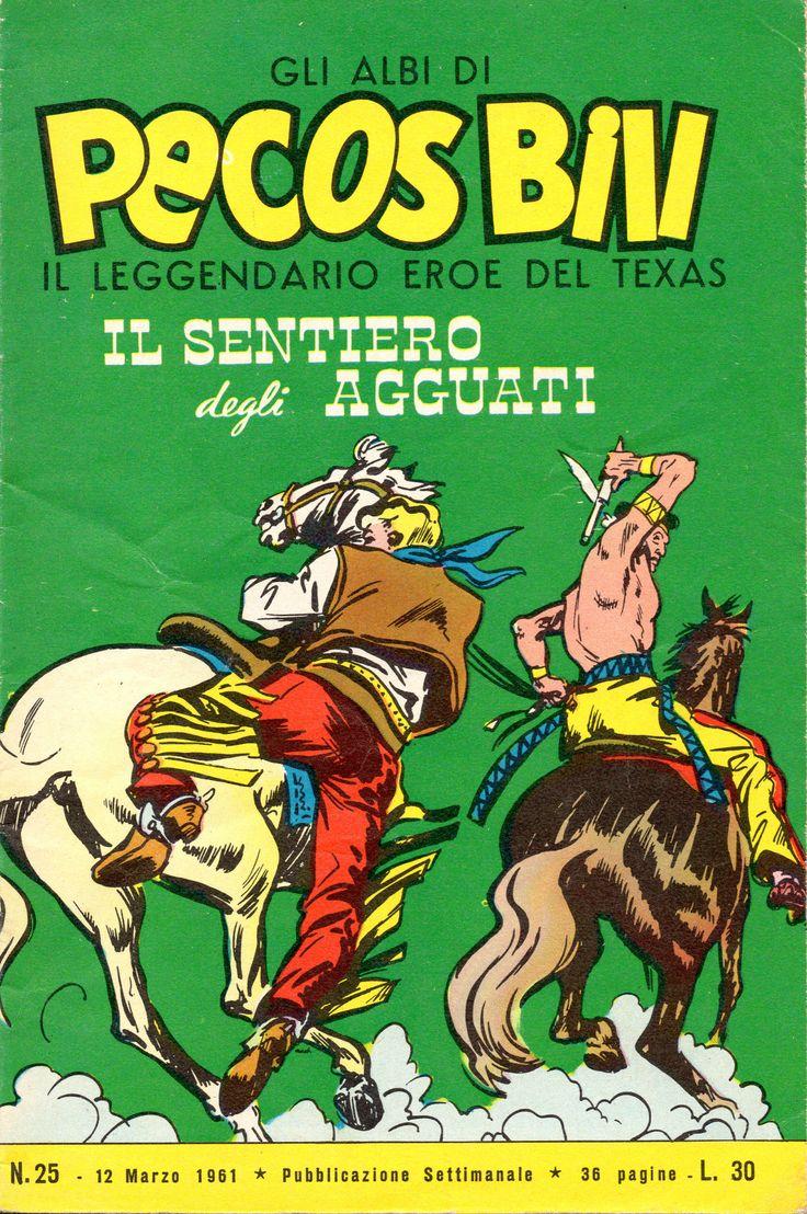 IL SENTIOERO DEGLI AGGUATI - Albi di Pecos Bill n.° 25 - 12 marzo 1961