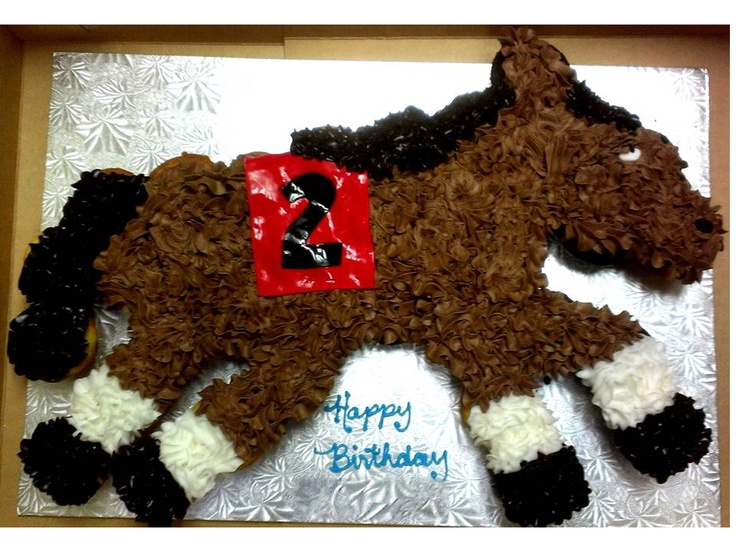 Horse Cake Ideas Cupcakes 94953 Race Horse Pull A Part Cup