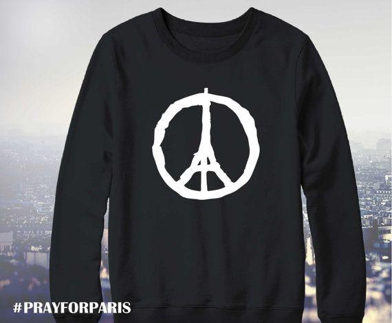 Pray for Paris sweatshirt, Eiffel Tower Peace, Pray for Paris shirt, Pray for Paris, Paris peace shirt, porte ouverte, UNISEX model