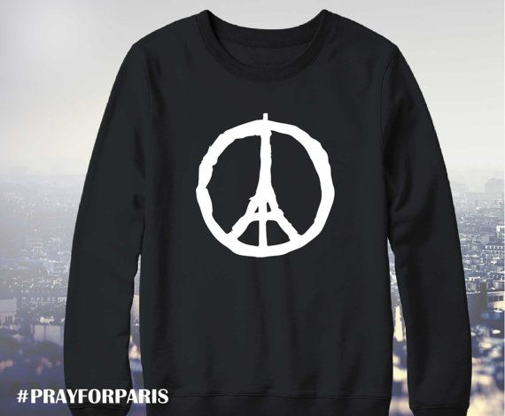 Pray for Paris sweatshirt, Eiffel Tower Peace, Pray for Paris shirt, Pray for Paris, Paris peace shirt, porte ouverte, UNISEX model