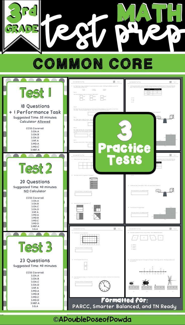 Pin On Math Activities Elementary Tn ready math practice test grade