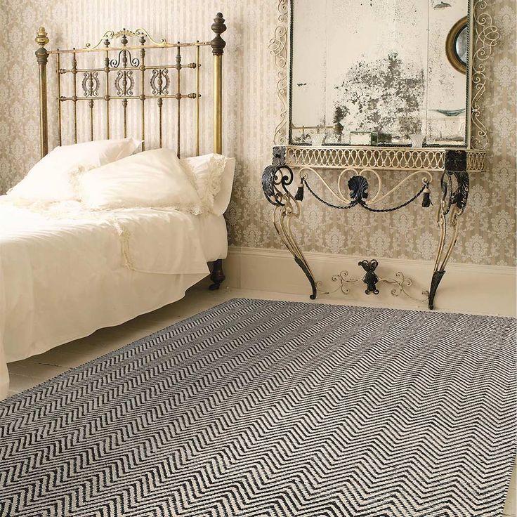Unser Teppich Matrix-Ives mit tollem Zick Zack Muster - ein echter Hingucker!