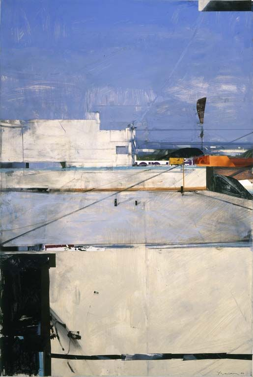 "Santa Monica Rooftops Ben Aronson [An example of a really ""realistic"" painting that still has that painterly love.]"