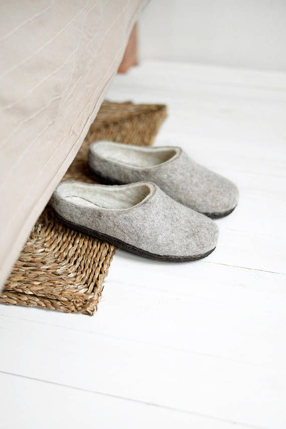 Boiled Wool Eco Shoes Women Clogs Felt Rustic Hygge Etsy Eco Shoes Womens Clogs Felted Slippers