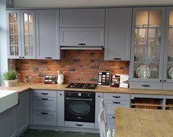 Kuchnia w stylu wiejskim - Średnia kuchnia w kształcie litery l, styl skandynawski - zdjęcie od AJ-Strefa Kuchni