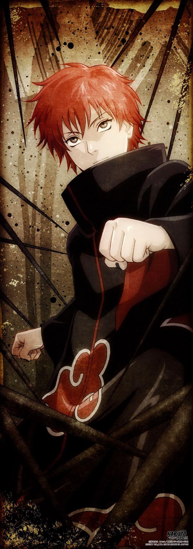 Sasori (サソリ, Sasori), aussi connu sous le nom de Sasori du Sable Rouge (赤砂のサソリ, Akasuna no Sasori)[4], était un nukenin de Rang S du village caché de Suna, ayant fait partie de la Brigade de Marionnettes, et un membre de l'Akatsuki où il fit équipe avec Orochimaru et plus tard, Deidara.