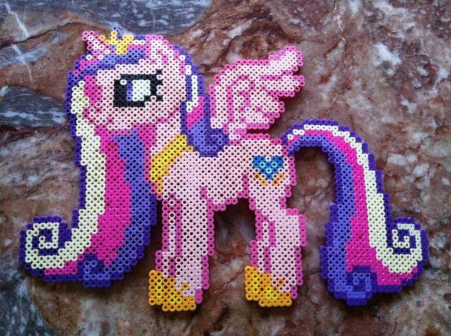 My Little Pony Hama Beads Princess Cadence by RainbowDash12Applejack