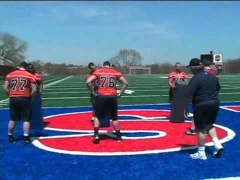 ▶ Football Drills - Offensive Line Secrets - The game is won in the trenches!