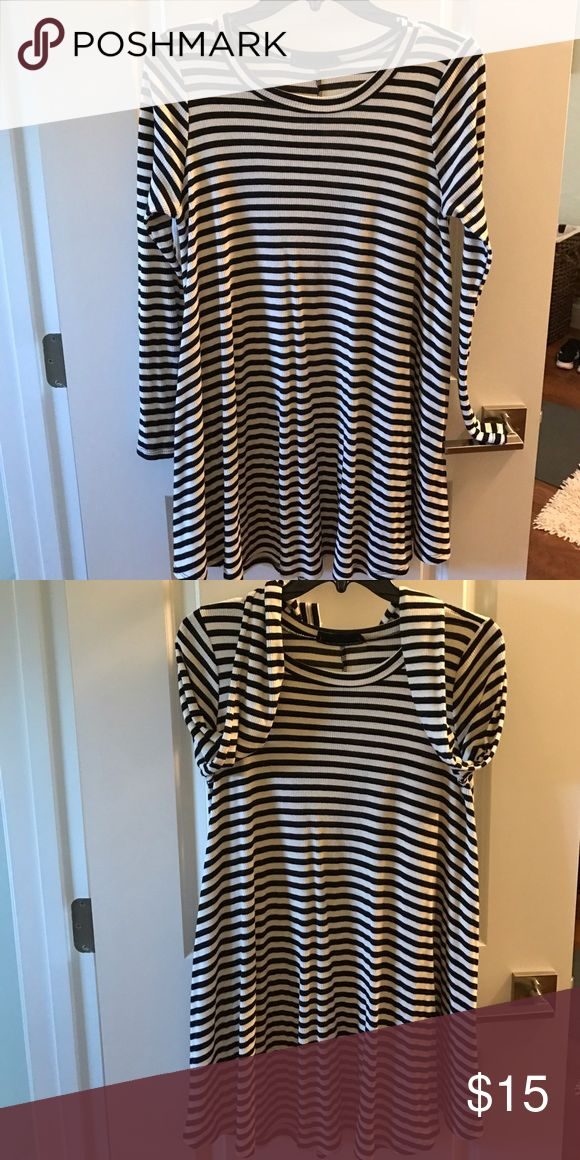 Black n white striped dress Long sleeve flowy dress. Cute with thigh high boots!! audrey 31 Dresses Long Sleeve