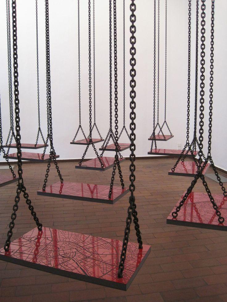 Mona Hatoum installation Miro gallery