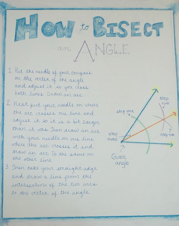Waldorf ~ 6th grade ~ Geometry ~ main lesson book