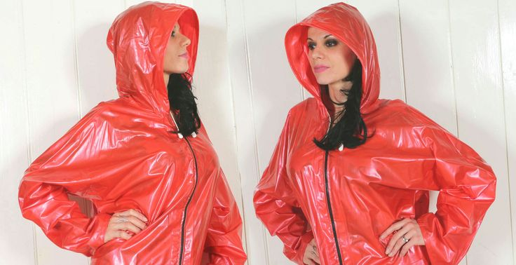 red raincoat Lavinia
