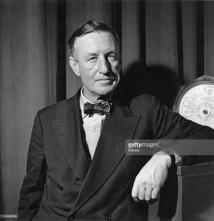 British author Ian Fleming (1908 - 1964), creator of the James Bond series of spy novels, 24th March 1958.