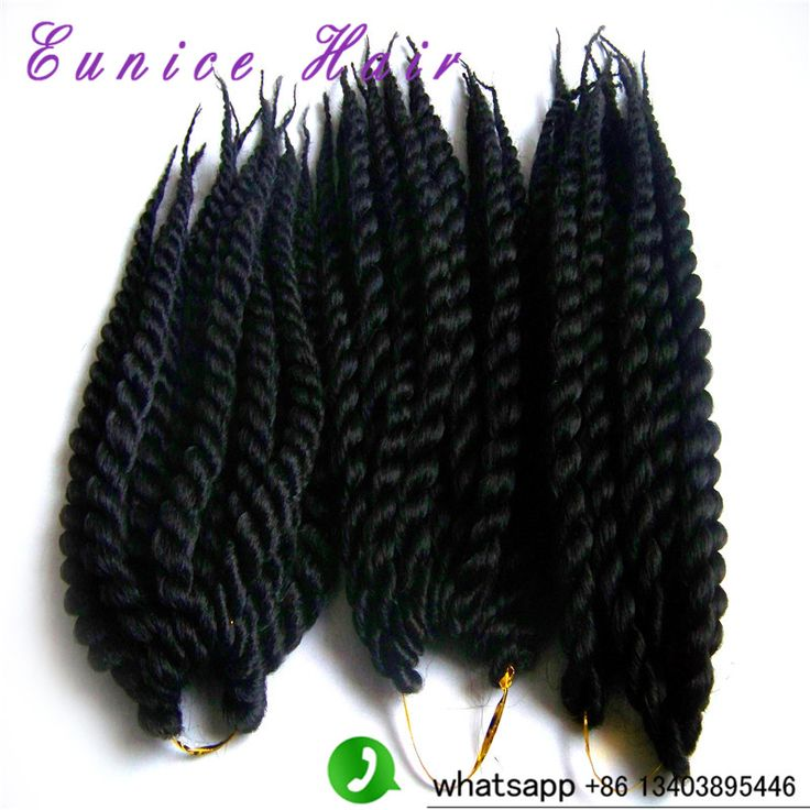 "Best quality synthetic braiding hair 18"" havana mambo twist crochet braid hair senegalese twist Crochet hair styles"
