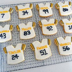Football Jersey Sugar Cookies