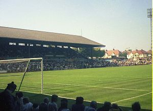 Brighton & Hove Albion FC - picture of the Goldstone Ground in Hove. The ground was sold, the site demolished and a retail park was built. After some time spent looking for a new ground, the club moved into the brand new stadium built at Falmer in Brighton.