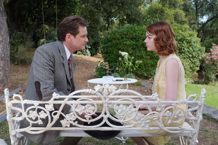 MAGIC IN THE MOONLIGHT, Colin Firth, Emma Stone, 2014 | Essential Film Stars, Colin Firth http://gay-themed-films.com/film-stars-colin-firth/