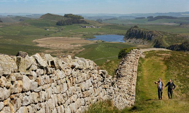 Graham and Boyd walking alongside Hadrian's Wall. http://www.uksportsoutdoors.com/product/pinewood-hastings-canvas-vest/