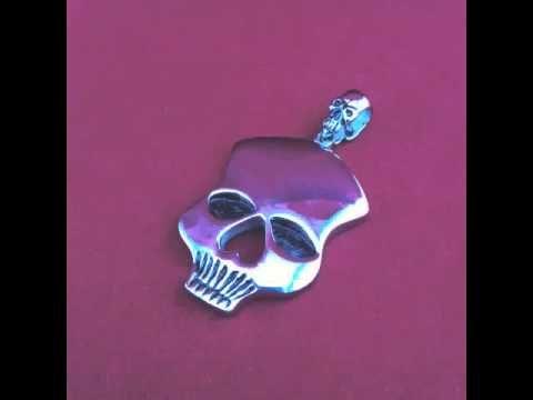 Stainless Steel Skull Pendants for Sale - p002981