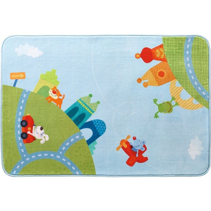 HABA Childrens Room Decor Rug City Tour