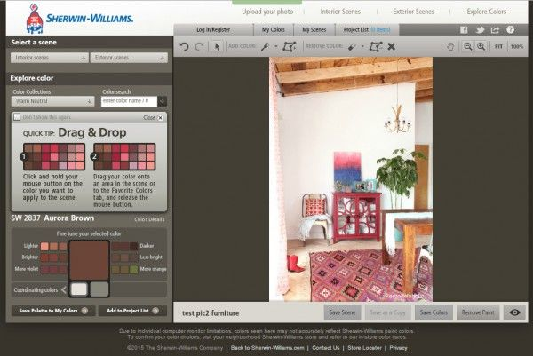 7 free online tools to test paint color before you buy - Sherwin Williams Color Visualizer