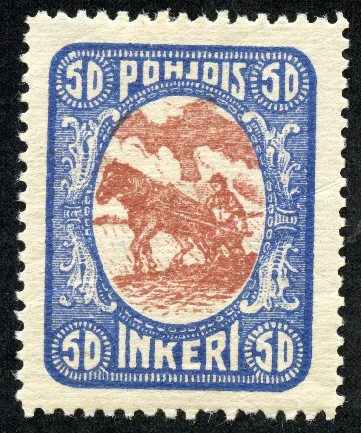 "1920 Scott 10 50p ultramarine & red brown ""Plowing"" Big Blue Big Blue '69, on two lines of one page- sharing the page with Northern Nigeria- has 9 spaces for North Ingermanland. The page is located between North Borneo and Northern Rhodesia."