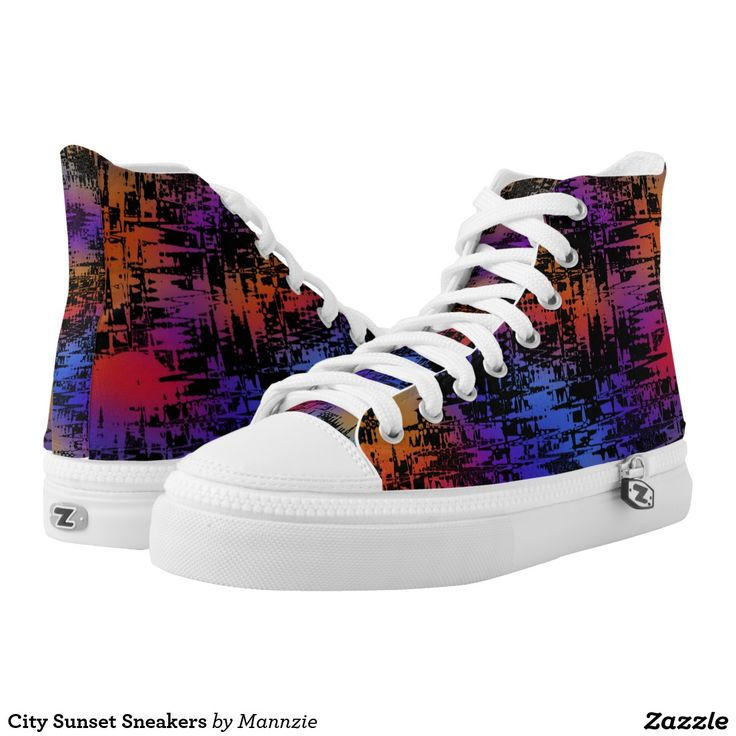 City Sunset Sneakers Printed Shoes