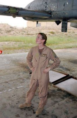 "Badass of the Week: Captain Kim Campbell, ""I get asked that a lot, 'What's it like to be a female in a fighter squadron?' Honestly, I never think about it. The important thing is to work really hard and be good at it, and then nobody cares what gender you are. I'm not a female fighter pilot. I'm just a fighter pilot, and I love it."""