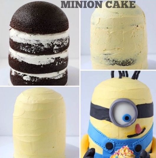 How to make a small Minion cake!