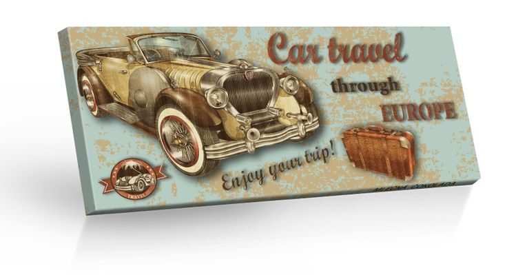 Retro Choco Cars Europe - mléčná čokoláda 100g