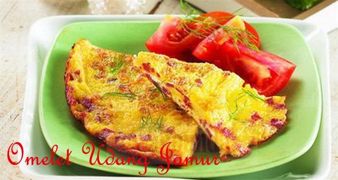 Omelet Udang Jamur :: Shrimp Omelet Mushrooms :: Klik link di atas untuk mengetahui resep omelet udang jamur