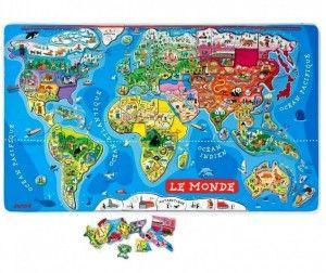 Janod Карта мира с магнитными пазлами (русский язык)