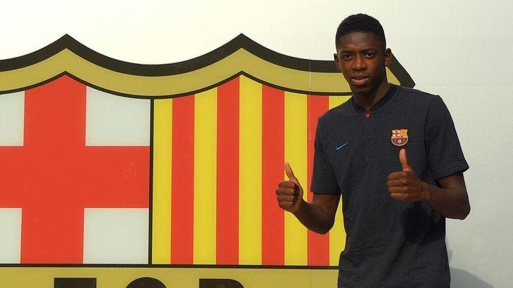 Barcelona unveil Ousmane Dembele as France internationals 138million transfer