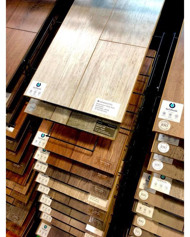 Laminate offers beautiful looks that emulate the elegance of porcelain tile and the warmth of hardwood but with the easy maintenance and super durability of a laminate. Mannington Laminate has the most complete line of wood and tile designs that youll find anywhere!