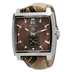 TAG Heuer Women's WAW1315FC6217 Monaco Brown Dial Watch